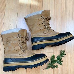 SOREL Caribou winter snow boots, 8, 39.